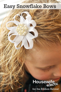 Snowflake Hair Bows
