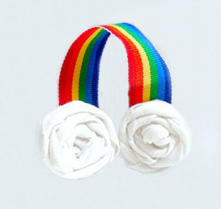 Rainbow Ribbon Sculpture