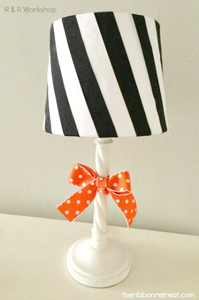 Striped Ribbon Lampshade