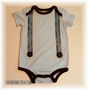 Make a Suspender Onesie