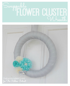 Swappable Flower Cluster Wreath