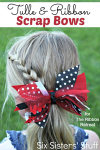 Tulle and Ribbon Scrap Bows