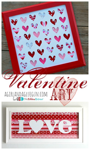 Valentine Ribbon Art