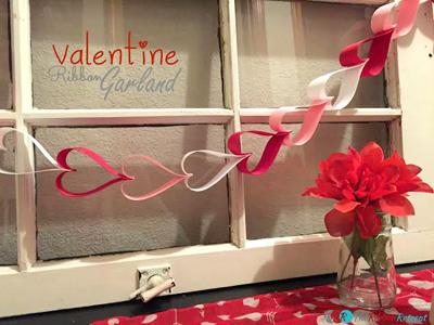 Heart Ribbon Garland