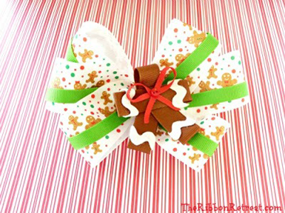 Gingerbread Man Ribbon Sculpture