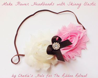 Flower Headbands w/ Skinny Elastic