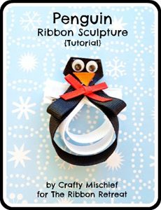 Penguin Ribbon Sculpture