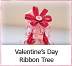 Valentine's Day Ribbon Tree