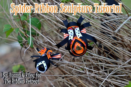 Spider Ribbon Sculpture