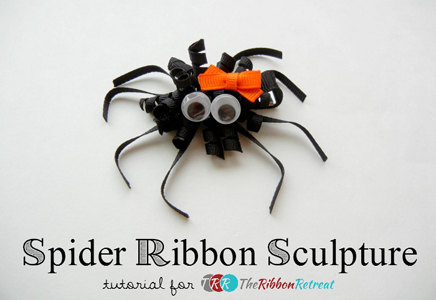 Korker Spider Ribbon Sculpture