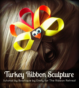 Turkey Ribbon Sculpture