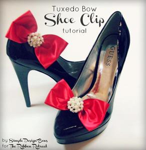 Tuxedo Bow Shoe Clip